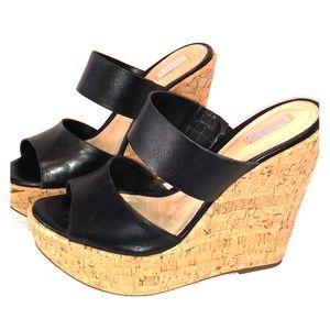 Schutz cork wedge sandals